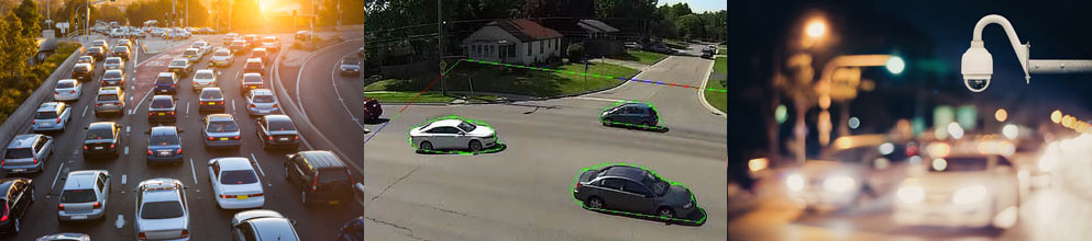 Vehicle Traffic Counting uses CCTV to count in all Directions