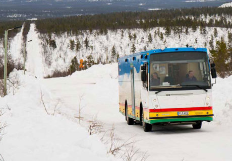 Counting mobile library users in the Arctic Circle